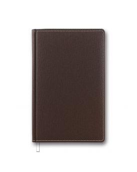 Ежедневник недатированный 144 л., 128 х 203 мм «Cambric» коричневый, закругленные углы