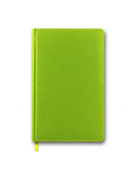 Ежедневник недатированный 144 л., 128 х 203 мм «Cambric» салатовый, закругленные углы