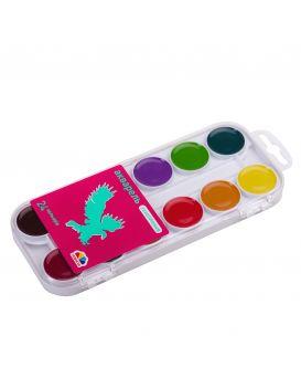 Краски акварельные 24 цветов, без кисти, пластик, Увлечение