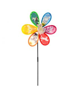 Ветрячок «Цветок, Единорог» на палочке 48 см, диаметр 27 см, в ассортименте, в пакете 24х27х2 см