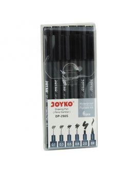 Набор капиллярных ручек 6 шт.: 0,1; 0,3; 0,5; 0,8; 2,0 «BR» ТМ Joyko