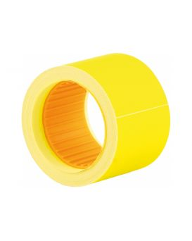 Этикетки - ценники, 50 х 40 мм, 100 шт. в рулоне, желтые.