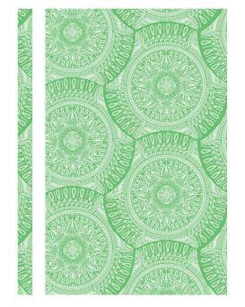 Папка - скоросшиватель с прозрачным верхом А4 без перфорации «Калейдоскоп» зеленая, ТМ Optima