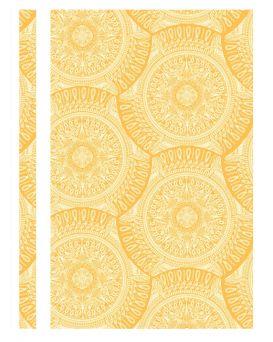 Папка - скоросшиватель с прозрачным верхом А4 без перфорации «Калейдоскоп» желтая, ТМ Optima