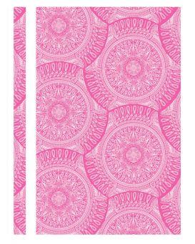 Папка - скоросшиватель с прозрачным верхом А4 без перфорации «Калейдоскоп» розовая, ТМ Optima