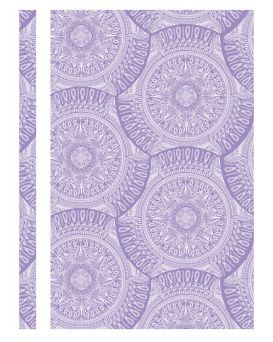 Папка - скоросшиватель с прозрачным верхом А4 без перфорации «Калейдоскоп» фиолетовая, ТМ Optima
