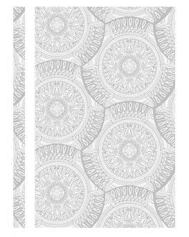 Папка - скоросшиватель с прозрачным верхом А4 без перфорации «Калейдоскоп» белая, ТМ Optima