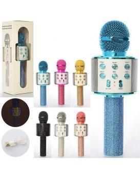 Микрофон 23 см, аккумулятор, Bluetooth, TF слот, USB зарядка, в ассортименте, в коробке, 29х8,5х10см