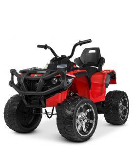 Квадроцикл на радио управлении 2,4 G, 2 мотора 20W, 1аккум 12V7AH, колеса EVA, TF, красный