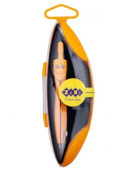Циркуль START NEON в твердом футляре, с запасным грифелем, оранжевый, KIDS Line