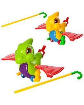 Каталка на палке 46см, дракончик, звук, машет крыльями, в ассортименте, в кульке, 20-21-13см