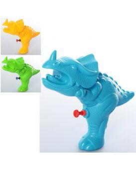 Водяной пистолет размер маленький, динозавр 20см, в ассортименте, в кульке, 15-20-5,5 см