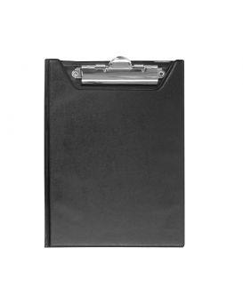 Клипборд-папка А5, PVC, черный