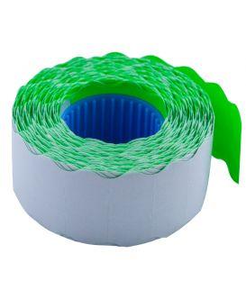 Ценник 26*12мм (1000шт, 12м), фигурный, внутренняя намотка, зеленый