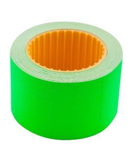 Ценник 35*25мм (240шт, 6м), прямоугольный, внешняя намотка, зеленый