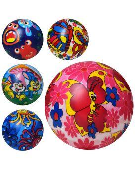 Мяч детский 6 дюймов, полноцветный, ПВХ, 40г, в ассортименте