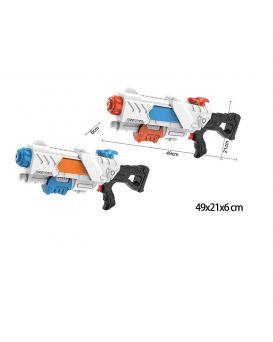 Водяной пистолет 9955 (48шт/2) с насосом, MIX 2 цвета, 49*21*6 см