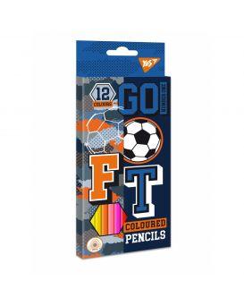 Карандаши цветные 12 шт. «Football» ТМ YES