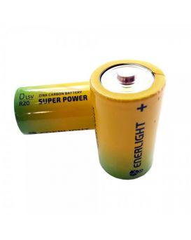 Батарейка ENERLIGHT R20 Super Power shrink 2
