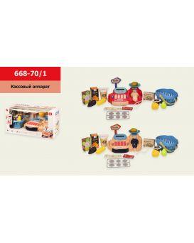 Касса в ассортименте, продукты, звук, свет, калькулятор, весы, в коробке 41*20*21,5 см, р-р