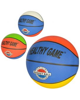 Мяч баскетбольный размер 7,резина, 8 панелей, рисунок-наклейка, в ассортименте, 520г, в пакете