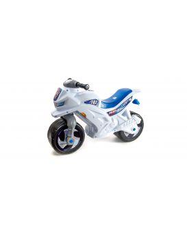 Мотоцикл Беговел 2-х колесный с сигналом белый
