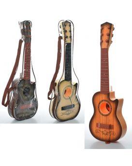 Гитара 54см, струны 6шт, в ассортименте, в чехле, 54-18-5,5 см
