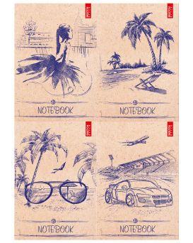 Блокнот А6 176 листов, серия «SKETCH STYLE», тв. паліт.,микс