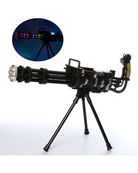 Автомат 55см, звук, свет, вибро, подставка, на батарейке, в свертке, 21-57-10см