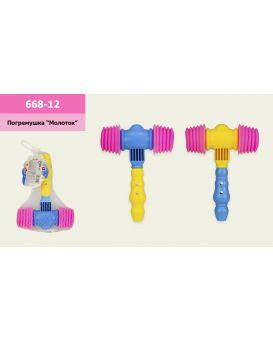 Молоточек пищалка, в ассортименте, р-р игрушки - 14*19 см, в сетке