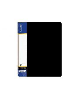 Папка А4 с 30 файлами Economix, черная
