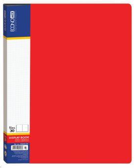 Папка А4 с 30 файлами Economix, красная