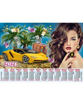 Календарь Л. А2 (Lamborgini)