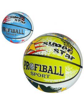 Мяч баскетбольный размер 7, резина, 580-600г, рисунок, в ассортименте, в кульке