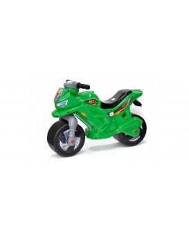 Толокар «Мотоцикл» с сигналом, 2-х колесный, зеленый