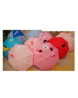 Зонтик детский длина 62, трость 59, диам. 78, ткань, в ассортименте, в кульке