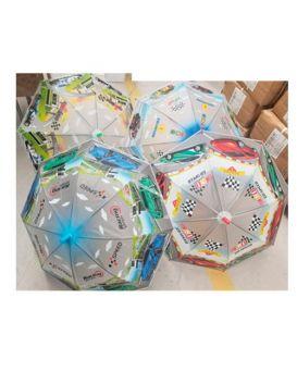 Зонтик детский длина 66, трость 61, диам 83, свисток, клеенка, в ассортименте, в кульке