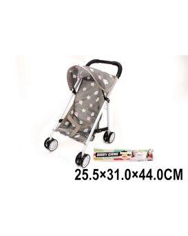Коляска для кукол «Прогулочная» 31х25,5х44 см, металлическая с козырьком, в пакете