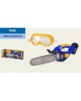 Набор инструментов бензопила и маска, свет, в коробке 44х9х15 см, р-р игрушки – 42 см