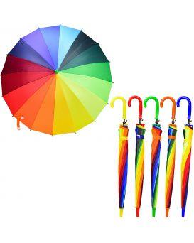 Зонтик детская радуга, 16 спиц, R=50 см