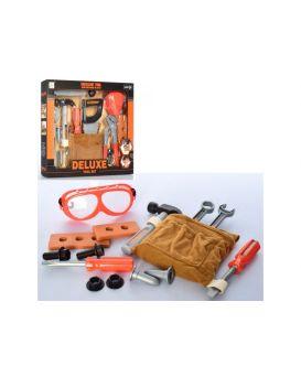 Набор инструментов 13 предметов: пояс, пила, молоток, ключи, плоскогубцы, в кор. 36,5х29х5,3 см
