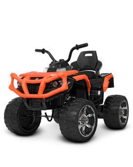 Квадроцикл р/у (2,4 G, 2 мотора 20 W, 1аккум 12 V 7 AH, кож. сид., колеса EVA, TF, оранжевый