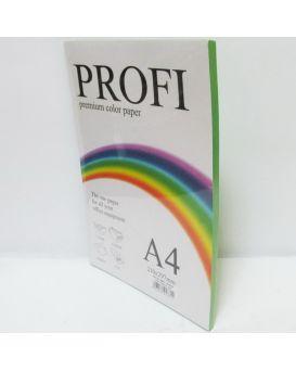 Бумага цветная А4 100 листов, 80 гр/м2, зеленый «Deep Parrot-230» профи