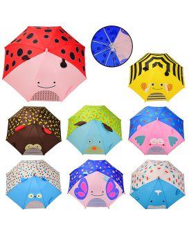 Зонтик детский с прозрачным окошком, в ассортименте, размер трости 65 см, диаметр 74 см