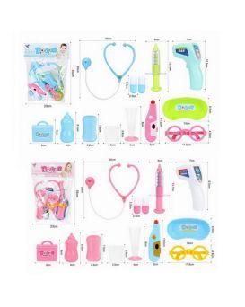Доктор стетоскоп, термометр, очки, шприц, лоток, в ассортименте, в пакете 24х31х4 см