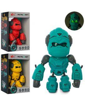 Робот обезьяна 13 см, сенсорный, звук, свет, в ассортименте, бат. (табл), в коробке 12,5х18х6 см