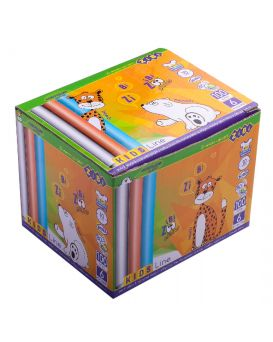Мел круглая белая +цветная 100шт., картонна коробка