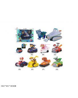 Герои Paw Patrol на батар., в ассортименте, в коробке 18х9,5х16,5 см