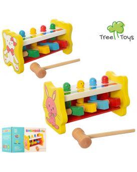 Деревянная игрушка Стучалка молоточек, в ассортименте, в коробке 18х11х11 см