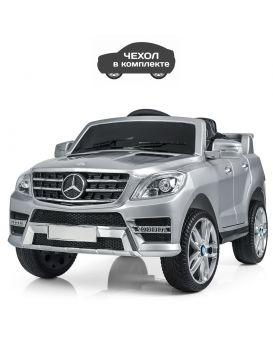 Джип на р/у 2,4 G, колеса EVA, 2 мотора 25 W,12V/7AH, откр. двери, кожаные сидения, цвет серебро